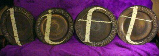 Wall hung ceramic platters - L,I,F,T - the series - base ceramic platters by Paul Laird of Nelson, NZ
